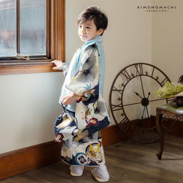 七五三 着物 3歳 男の子 ブランド被布セット 小町 「兜に針松 KKB-12」 三歳男児被布セット 子供着物 三才のお祝い着 3才向け 【送料無料】【メール便不可】