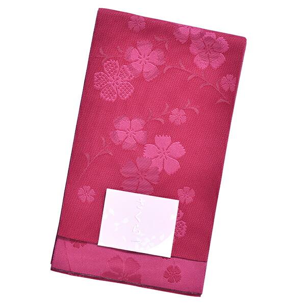 浴衣 帯 半幅帯 「深紅色×赤紫色地 なでしこ」 大人 単帯 レディース 女性用 浴衣帯 半巾帯 半幅帯単品 【メール便不可】