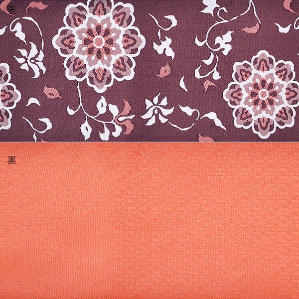 浴衣 帯 半幅帯 「えび茶色×オレンジ地 金華山柄」 大人 小袋帯 レディース 女性用 浴衣帯 半巾帯 半幅帯単品 【メール便不可】