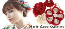 髪飾り,お花髪飾り,つまみ細工 髪飾り
