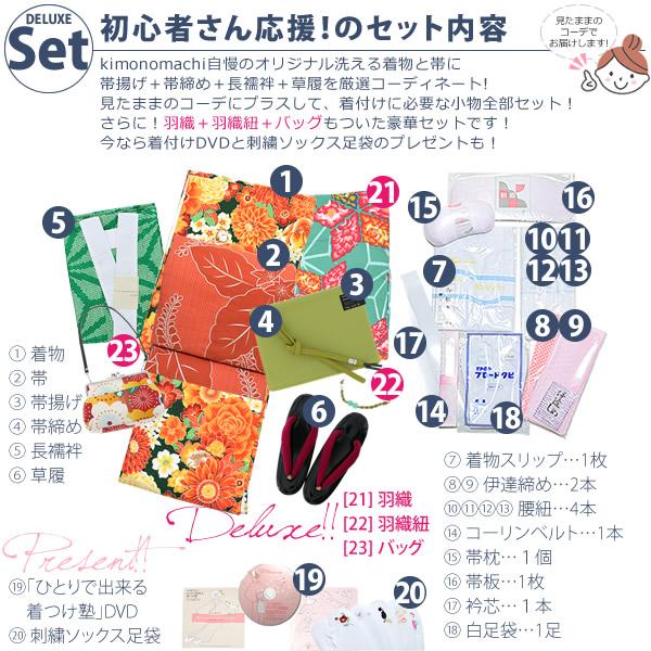 DX09グリーン×オレンジ花setセット内容