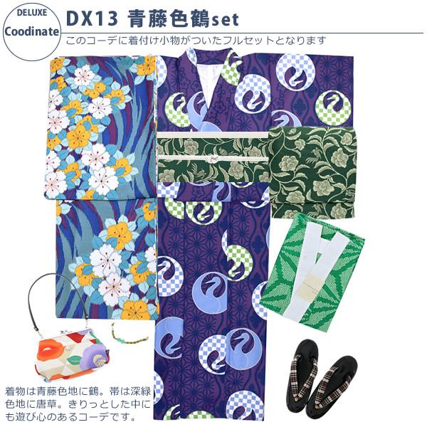 DX13青藤色鶴setコーディネート