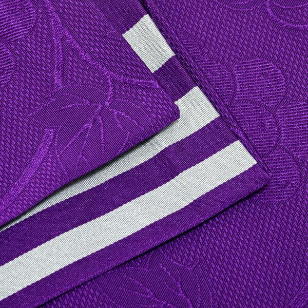 帯01:半幅帯 葡萄蔦 紫