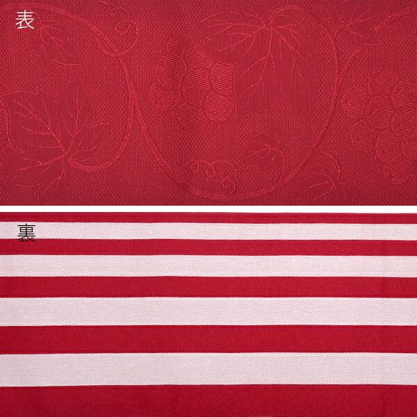 帯03:半幅帯 葡萄蔦 深紅