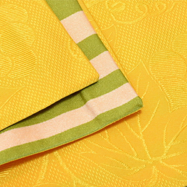 帯04:半幅帯 葡萄蔦 黄
