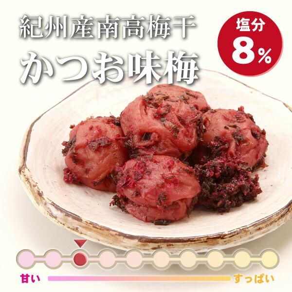 かつお味梅(塩分8%)