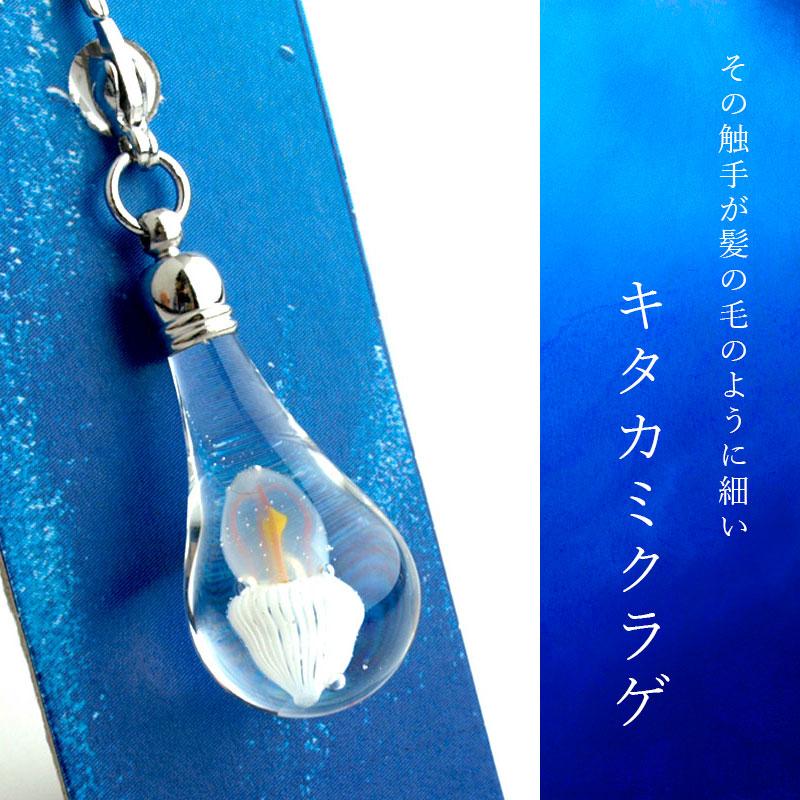 ガラス細工 クラゲminiチャーム01-2(キタカミクラゲ)