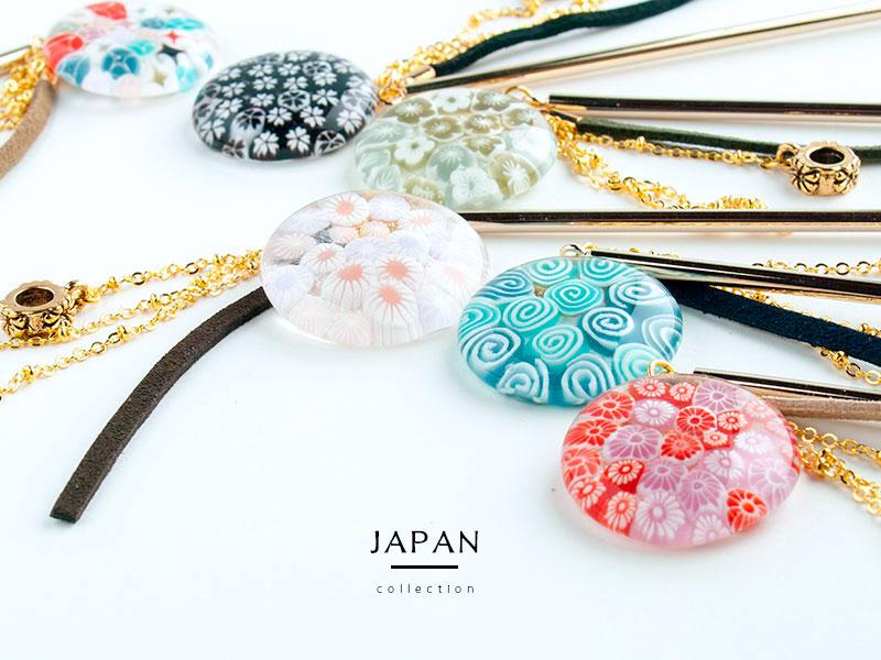 Japanミルフィオリかんざし01 kan022-1