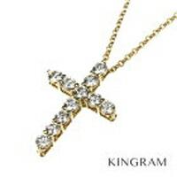 スモール クロス ネックレス K18 ダイヤ