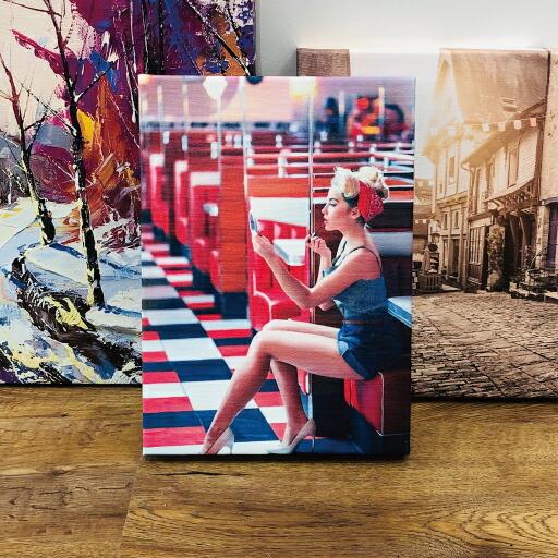 A4 サイズ 写真 入れ キャンバス 型 アート パネル