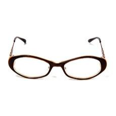 M2CUORE(エムツークオレ)FIORE(フィオレ)ステンドカラーオリジナルメガネフレーム。おしゃれな眼鏡。レディース。プラスチック。茶色。花柄。ブラウン。送料無料