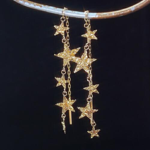 ゴールドピアス 可愛い星モチーフ レディース