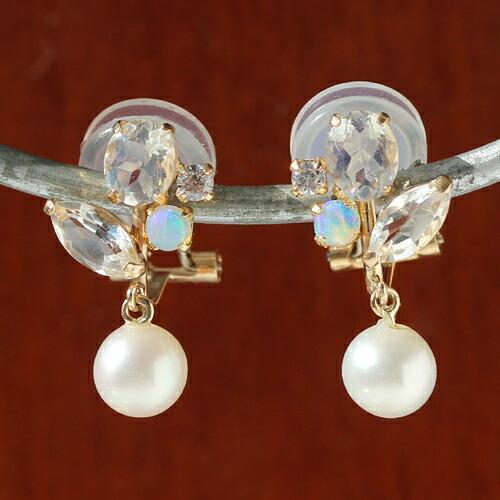 イヤーカフ K10 レディース 淡水パール 真珠 ピンクゴールドピアス イヤリング 通販 人気 おすすめ