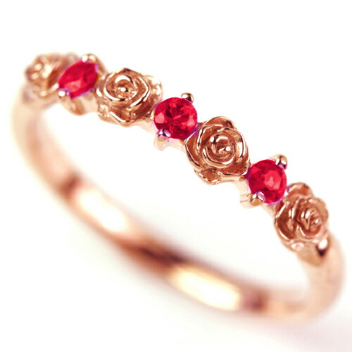 レッドスピネル リング レディース 指輪 大人気 バラ 薔薇 モチーフ エタニティーリング