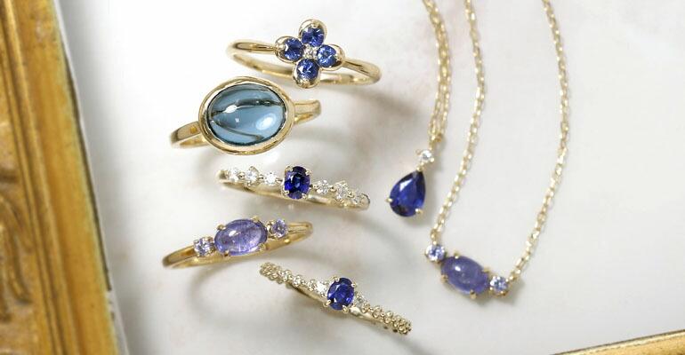 青いジュエリーコレクション