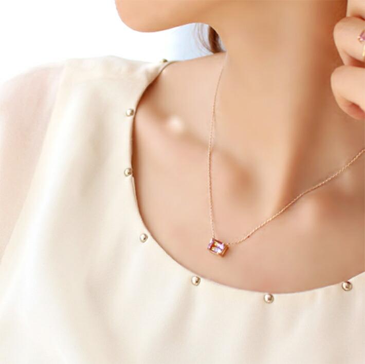 ボリビア産アメトリンの大粒ネックレスの画像