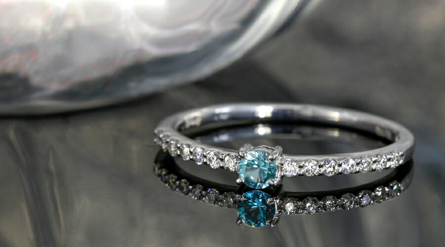 グランディディエライトとダイヤモンドのK18リング・指輪