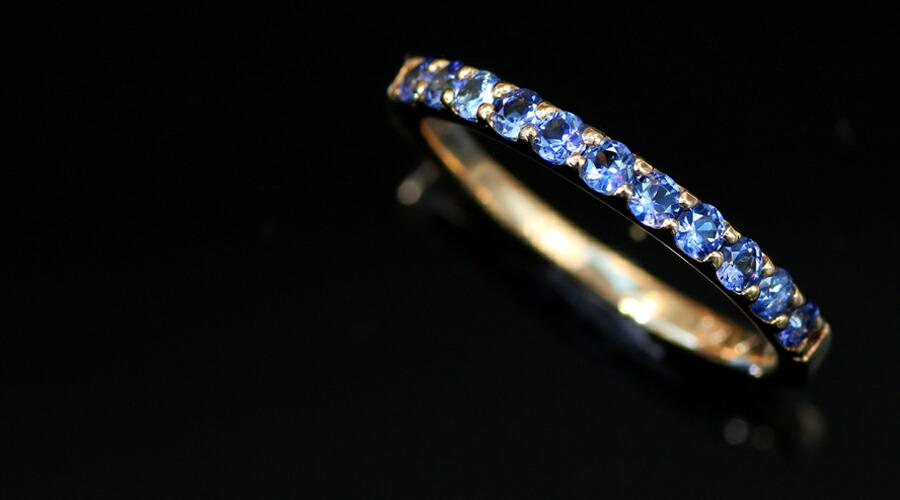 ベニトアイトのK18ハーフエタニティリング・指輪