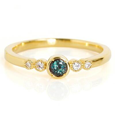 アレキサンドライトのK18リング・指輪