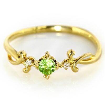 バラカガーネットとダイヤモンドのK18リング・指輪