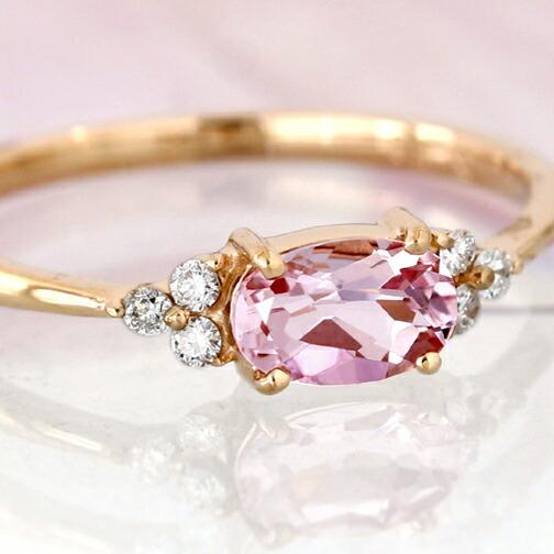 モルガナイトとダイヤモンドのK18リング(指輪)