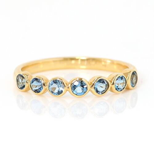 サンタマリアアクアマリンのK18リング(指輪)