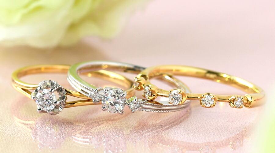K18ダイヤモンドリング(指輪)