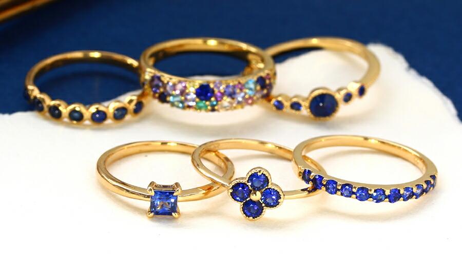 コーンフラワーブルーサファイアのK18リング(指輪)