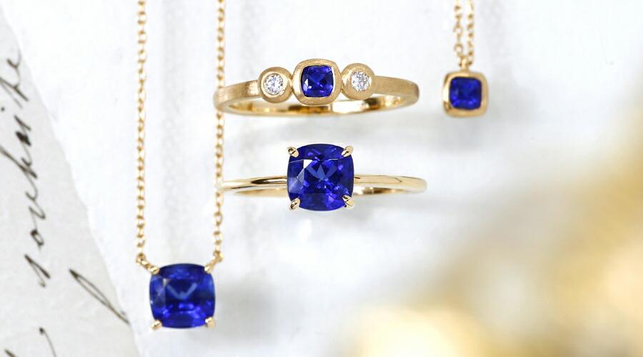 カイヤナイトのK18リング(指輪)、ネックレス