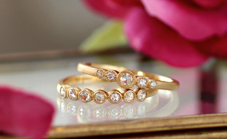 仙台店 ディスプレイ ネックレス ピアス イヤリング リング 指輪 先行発売 ローズカットダイヤモンド