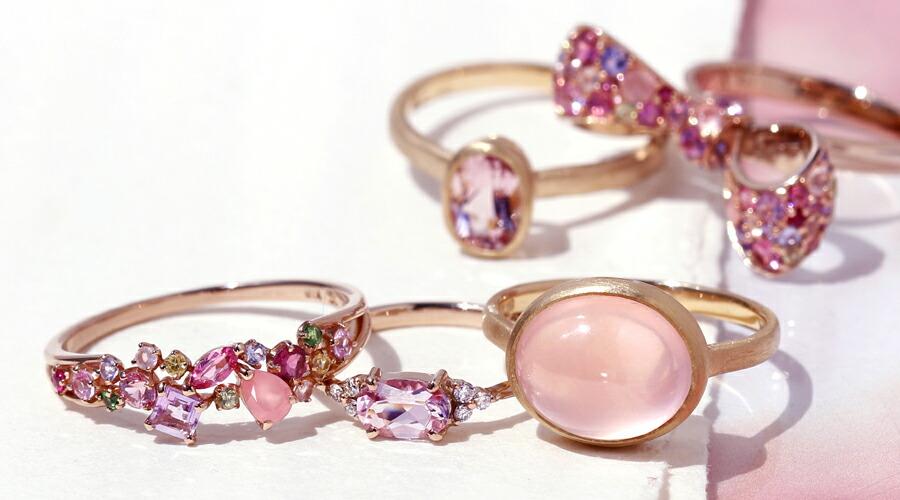 ピンク色ジュエリー