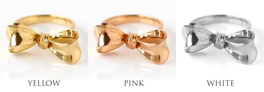 イエローゴールド・ピンクゴールド・ホワイトゴールドのK18リング(指輪)