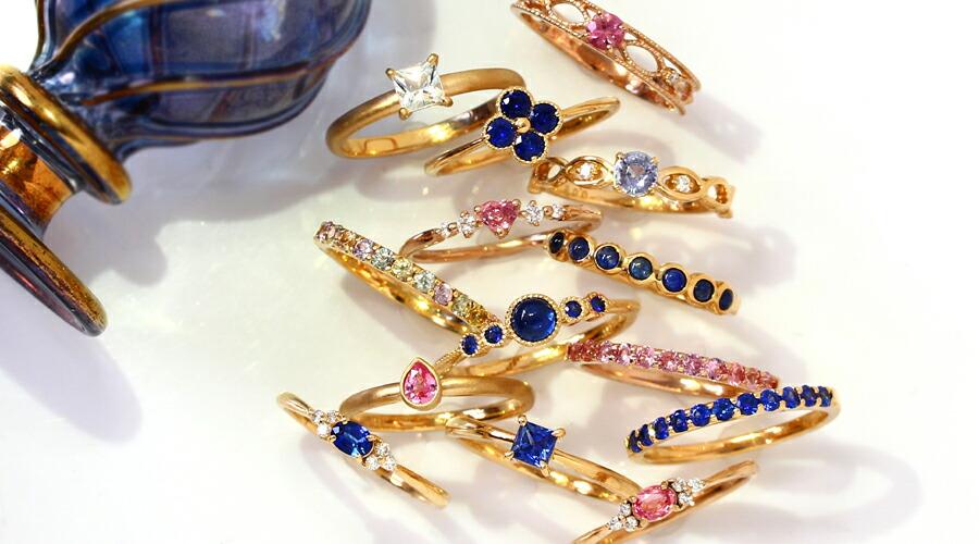 ブルーサファイアコレクション 9月誕生石 18Kリング 指輪