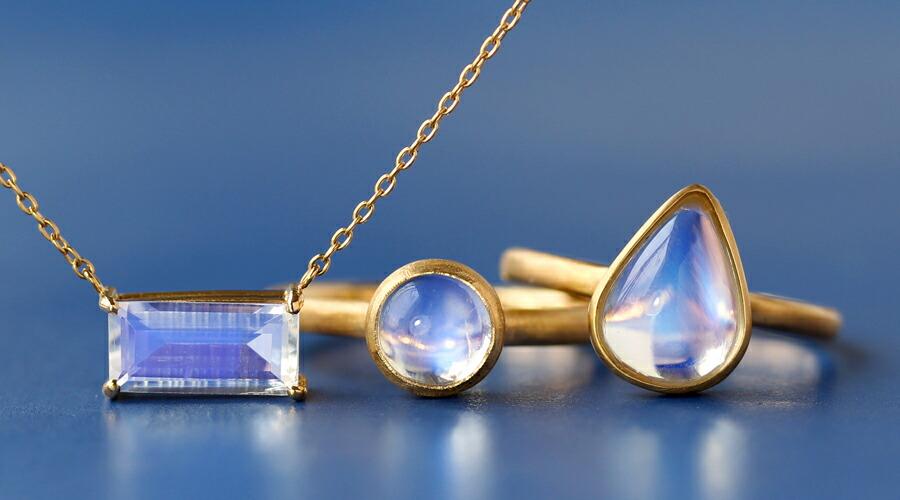ロイヤルブルームーンストーンコレクション 6月誕生石 18Kリング 指輪