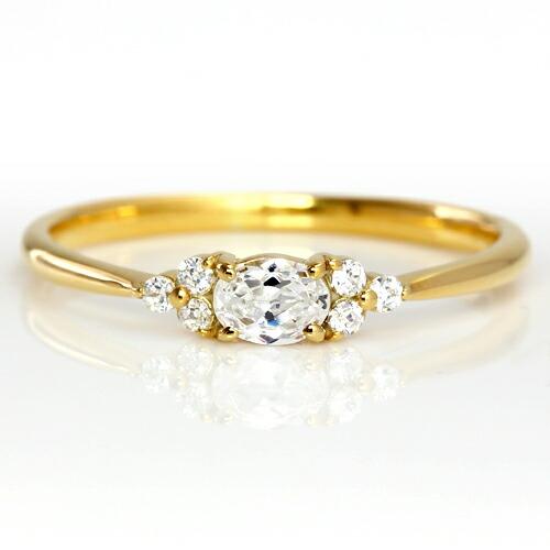 ダイヤモンドのリング「フラヴィ」正面画像