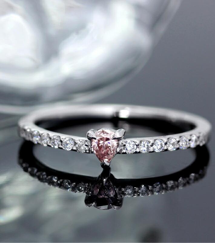 アーガイル産天然ピンクダイヤモンドの18金リング