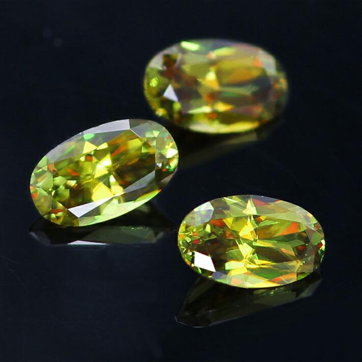 パキスタン産クロムスフェーン大粒オーバルカットの宝石