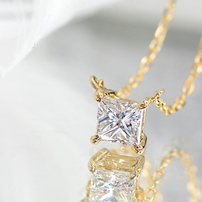 ダイヤモンドのK18ネックレス