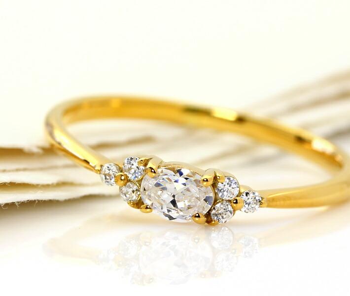ダイヤモンドのリング「フラヴィ」