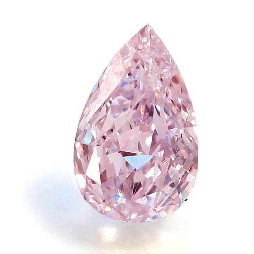 アーガイル産天然ピンクダイヤモンドのペアシェイプカットのルース