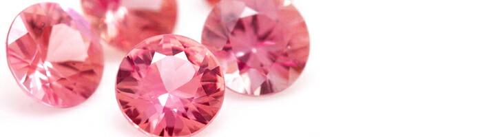 ミモザブーケに使用している宝石「ピンクスピネル」の画像