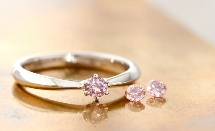 ブライダル 婚約指輪 ピンクダイヤモンド