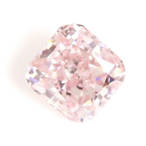 アーガイル産天然ピンクダイヤモンドのスクエアカットのルース