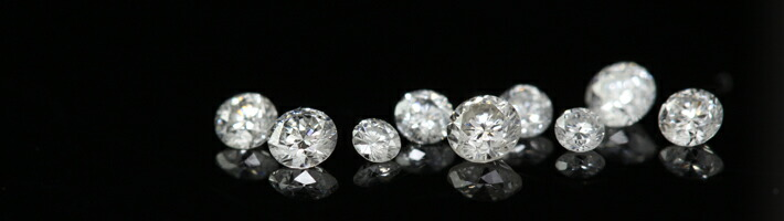 スノー・ルナブーケに使用している宝石「ダイヤモンド」の画像