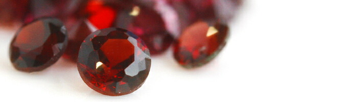 ローズブーケに使用している宝石「パイロープガーネット」の画像