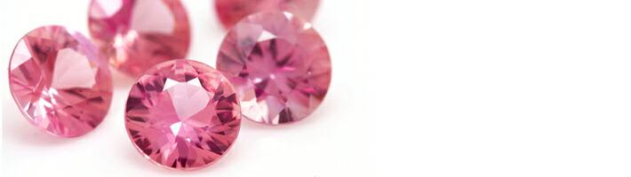 ハナミズキブーケに使用している宝石「ピンクサファイア」の画像
