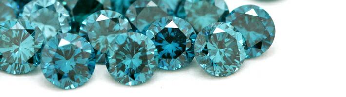 ルナブーケに使用している宝石「ブルーダイヤモンド」の画像
