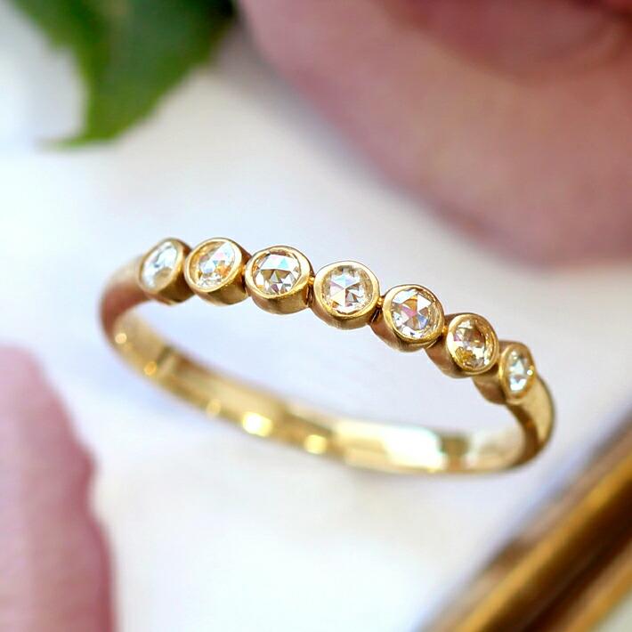 ローズカットダイヤモンドのリング