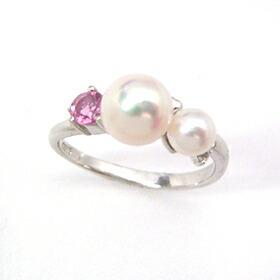 ピンクパールの指輪