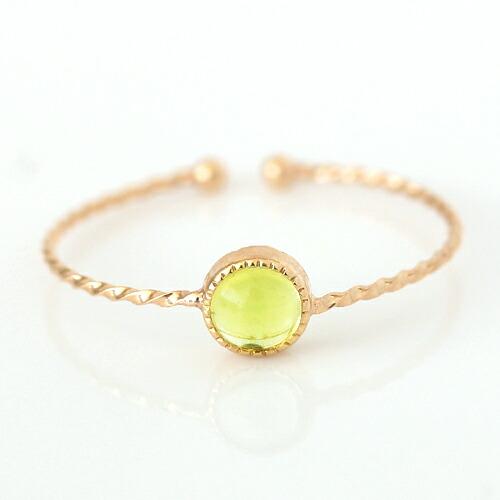 ペリドット 8月 誕生石 リング 指輪 10K K10 10金 ゴールド 華奢 シンプル 極細 重ねづけ プレゼント 女性 天然石 通販 おすすめ 人気 ブランド 宝石